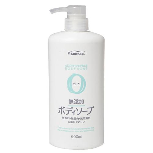 Купить Kumano Cosmetics Жидкое мыло для тела без добавок для чувствительной кожи Pharmaact Additive Free Body Soap Zero, 600 мл (Kumano Cosmetics, Жидкое мыло для тела)