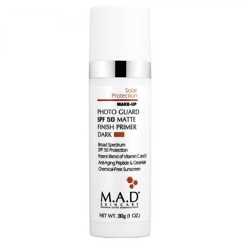 Купить M.A.D. Матирующий крем-праймер с защитой spf 50 dark, 30 мл (M.A.D., Sun Protection)