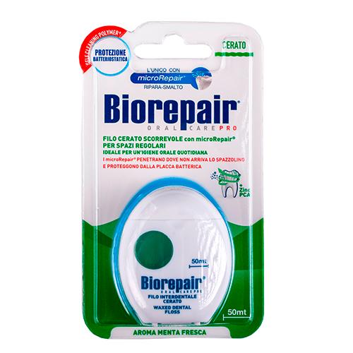 Biorepair Зубная нить вощеная скользящая Filo Cerato Scorrevole, 50 м (Biorepair, Уход за зубами)