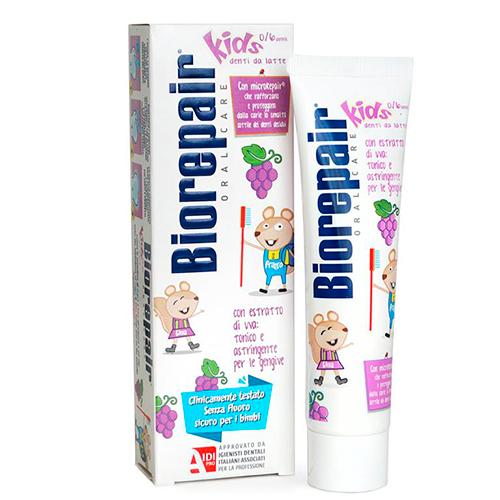 Купить Biorepair Зубная паста Kids детская с экстрактом винограда, 50 мл (Biorepair, Детская гамма)