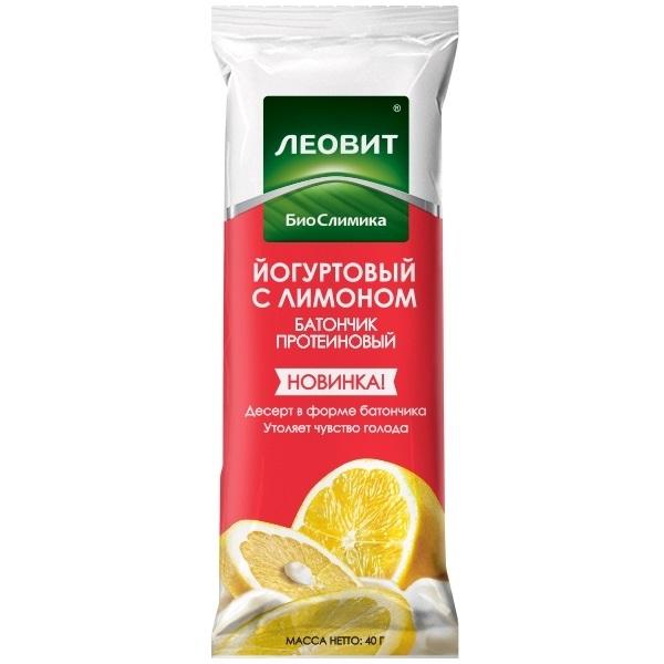 Купить Леовит Батончик протеиновый Йогуртовый с лимоном, 40 г (Леовит, )