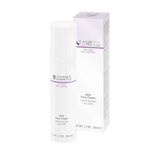Купить Janssen AHA face cream Легкий активный крем с фруктовыми кислотами для жирной кожи 50 мл (Janssen, Oily skin)