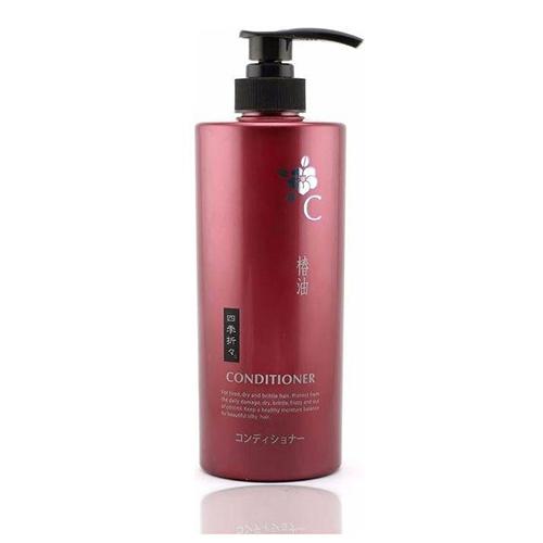 Купить KUMANO COSMETICS Кондиционер для сухих и сильно поврежденных волос Shiki-Oriori Камелия, 600 мл (KUMANO COSMETICS, Кондиционеры для волос)