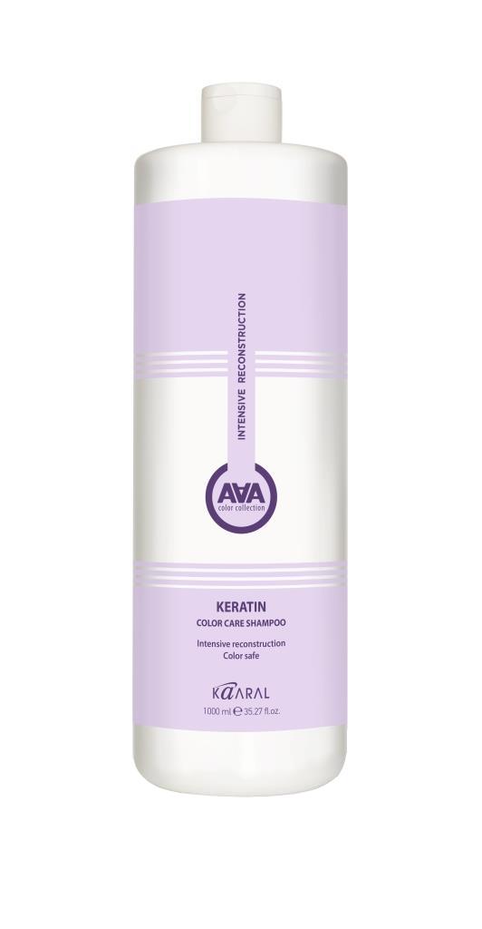 Купить Kaaral Кератиновый шампунь для окрашенных и химически обработанных волос, 1000 мл (Kaaral, Кeratin color care AAA)