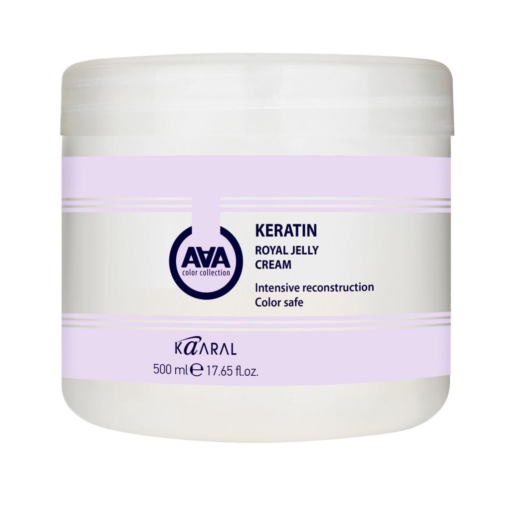 Купить Kaaral Питательная крем-маска для восстановления окрашенных и химически обработанных волос Royal Jelly Cream, 500 мл (Kaaral, Кeratin color care AAA)