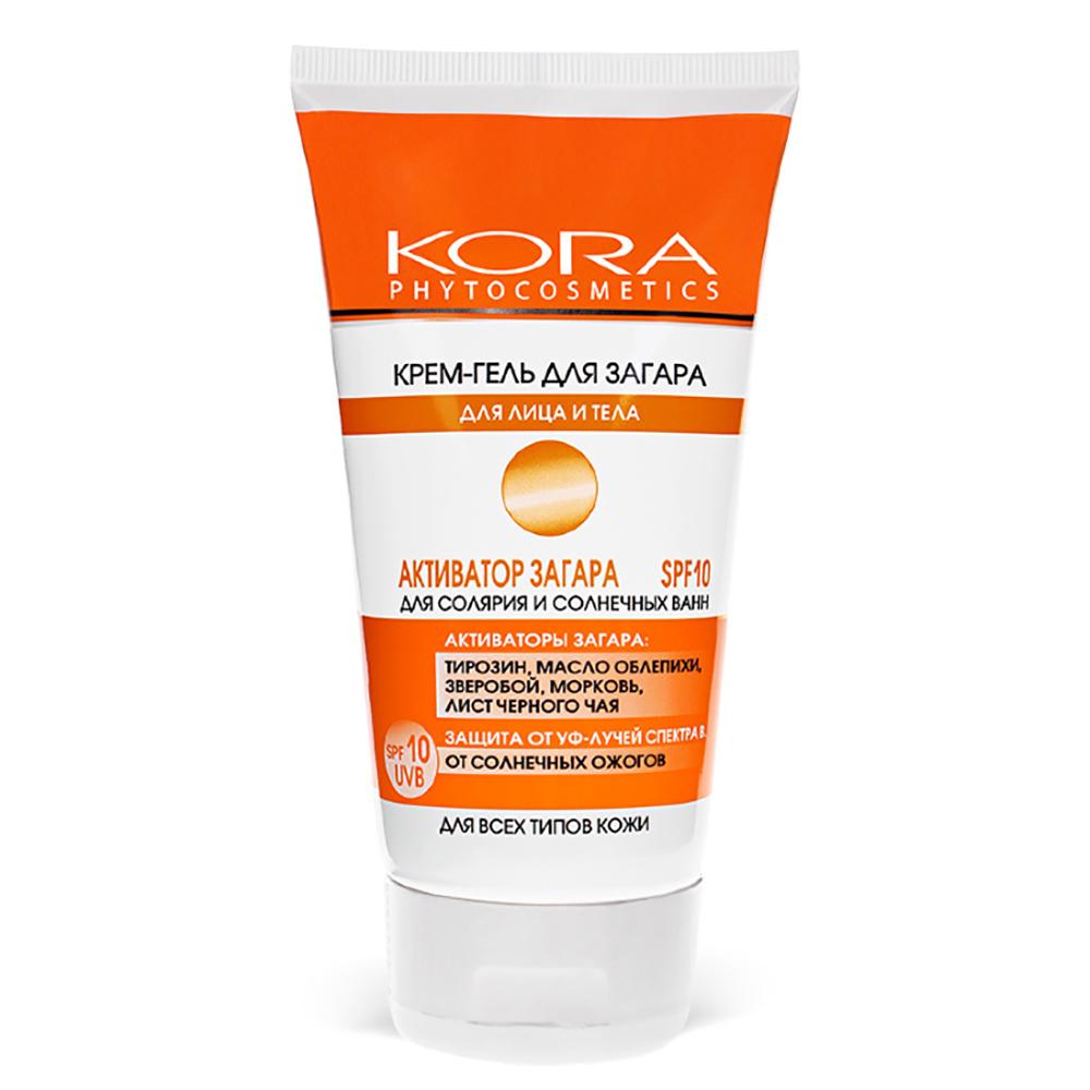 Купить Кора Крем-гель для загара для лица и тела SPF-10, 150 мл (Кора, Солнце)