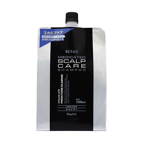 Купить Kumano Cosmetics Лечебный мужской шампунь Beaua Medicated Shampoo Scalp Care сменный блок, 1000 мл (Kumano Cosmetics, Шампуни для волос)