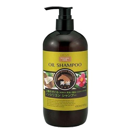 Купить Kumano Cosmetics Шампунь для сухих волос с 3 видами масел (лошадиное, кокосовое и масло камелии) Deve Infused With Horse Oil Shampoo, 480 мл (Kumano Cosmetics, Шампуни для волос)