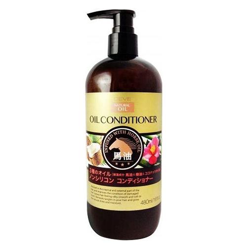 Купить Kumano Cosmetics Кондиционер для сухих волос с 3 маслами Deve Infused With Horse Oil Conditioner (лошадиное, кокосовое и масло камелии), 480 мл (Kumano Cosmetics, Кондиционеры для волос)