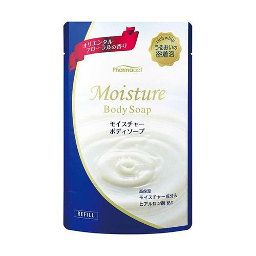 Купить Kumano Cosmetics Жидкое мыло для тела увлажняющее с восточным цветочным ароматом Pharmaact Moisture Body Soap сменный блок, 400 мл (Kumano Cosmetics, Жидкое мыло для тела)