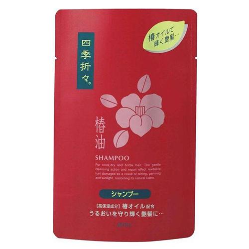 Купить Kumano Cosmetics Шампунь для сухих волос Shiki-Oriori Камелия сменный блок, 450 мл (Kumano Cosmetics, Шампуни для волос)