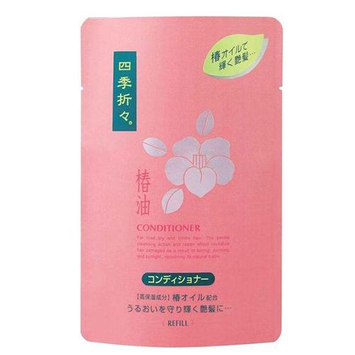 Купить Kumano Cosmetics Кондиционер для сухих и сильно поврежденных волос Shiki-Oriori Камелия, сменный блок, 450 мл (Kumano Cosmetics, Кондиционеры для волос)
