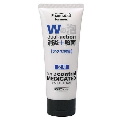 Купить KUMANO COSMETICS Пенка для умывания с антибактериальным действием для мужчин Pharmaact Dual-Action Acne Control Medicated Facial Foam, 130 г (KUMANO COSMETICS, Косметика для умывания)