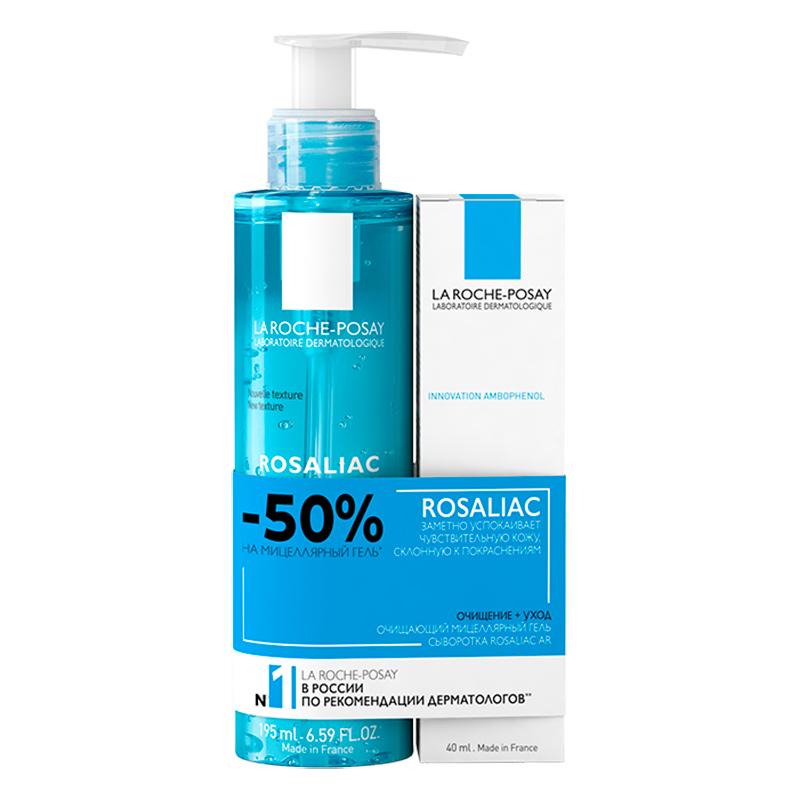 Купить La Roche-Posay Набор для кожи, склонной к покраснениям Rosaliac (Интенсивная сыворотка Rosaliac AR Intense, 40 мл + Очищающий мицеллярный гель Rosaliac, 195 мл) (La Roche-Posay, Rosaliac)