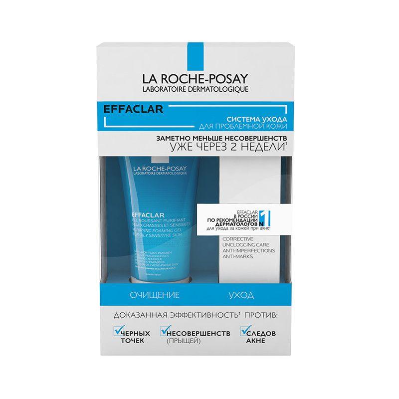La Roche-Posay Набор Effaclar (Очищающий пенящийся гель Effaclar, 50 мл + Корректирующий крем-гель для проблемной кожи Effaclar DUO (+), 15 мл) (La Roche-Posay, Effaclar)