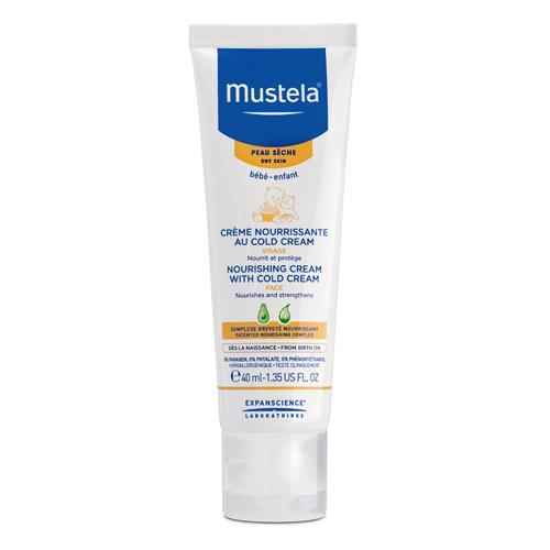 Mustela Питательный крем для лица с кольд-кремом, 40 мл (Mustela, Bebe - защита кожи)