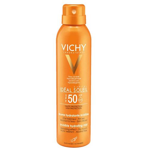 Купить Vichy Увлажняющий спрей-вуаль SPF 50, 200 мл (Vichy, Ideal Soleil)