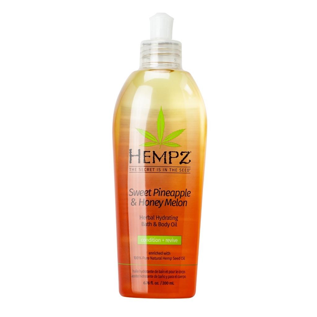 Купить Hempz Масло увлажняющее для ванны и тела Ананас и медовая дыня , 200 мл (Hempz, Ананас и медовая дыня)