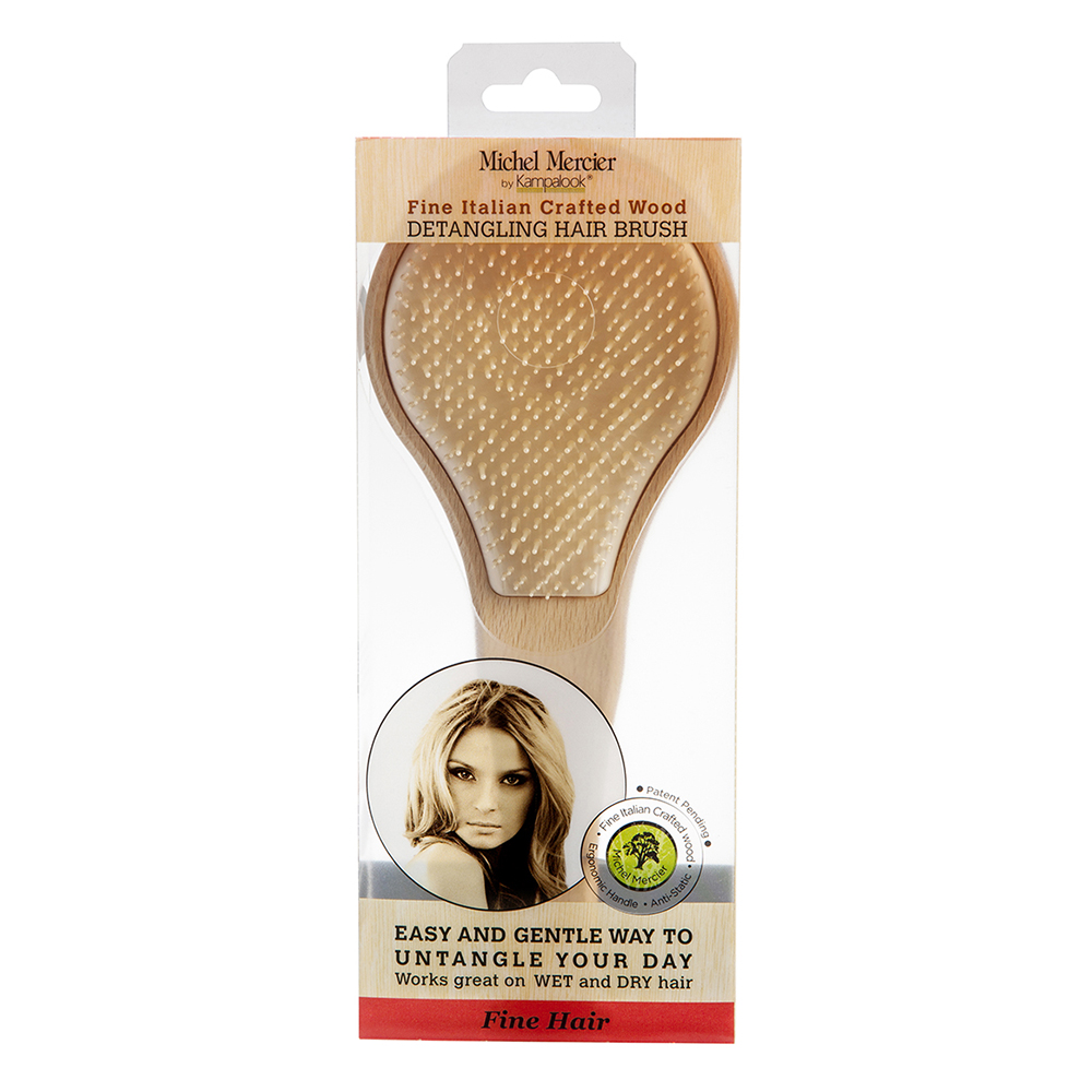 Купить Michel Mercier Деревянная щетка для тонких волос, 1 шт (Michel Mercier, Деревянные щетки)