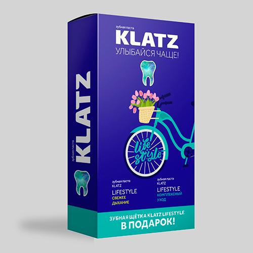 Купить Klatz Набор Зубная паста Свежее дыхание, 75 мл + Зубная паста Комплексный уход, 75 мл + Зубная щетка средняя (Klatz, Lifestyle)