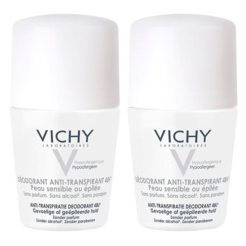 Vichy Дуопак Дезодорант 48 ч для чувствительной кожи, 50 мл*2 шт. (Vichy, Deodorant)