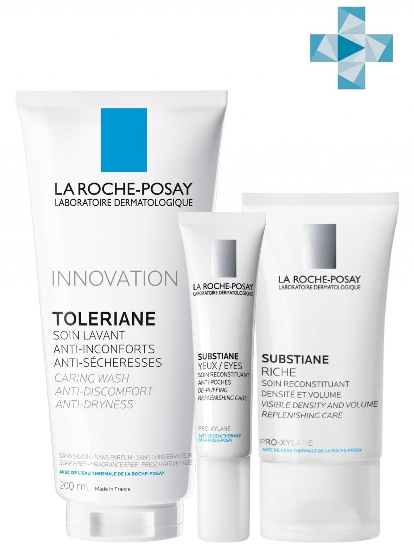 Купить La Roche-Posay Набор Substiane+ (Крем для нормальной и сухой кожи, 40 мл + Восстанавливающее средство для контура глаз, 15 мл + Очищающий гель-уход, 200 мл) (La Roche-Posay, Substiane [+])