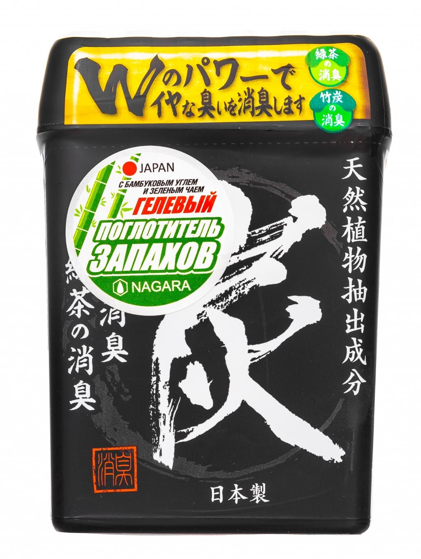 Купить Nagara Гелевый поглотитель запаха с бамбуковым углем и зеленым чаем, 320 г (Nagara, Освежители и поглотители запаха)