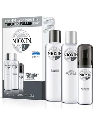 Купить Nioxin Nioxin Набор (Система 2) 150мл+150мл.+40мл. (Nioxin, 3D система ухода)