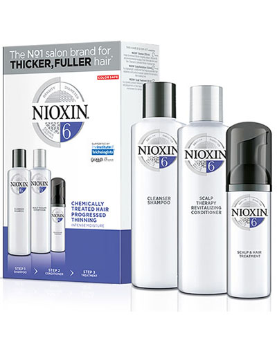 Купить Nioxin Набор (Система 6) 150 мл+150 мл+40 мл (Nioxin, 3D система ухода)
