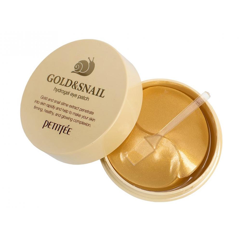 Купить Petitfee Патчи для глаз гидрогелевые с золотом и экстрактом улитки Gold & Snail Eye Patch, 60 шт (Petitfee, Eye Patch)