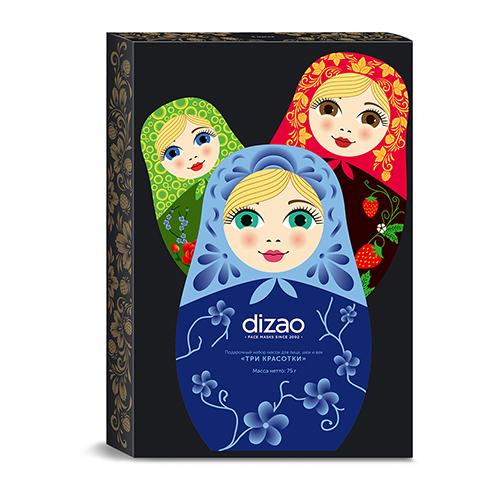 Купить Dizao Подарочный набор масок для лица, шеи и век Три красотки , 1 шт. (Dizao, )