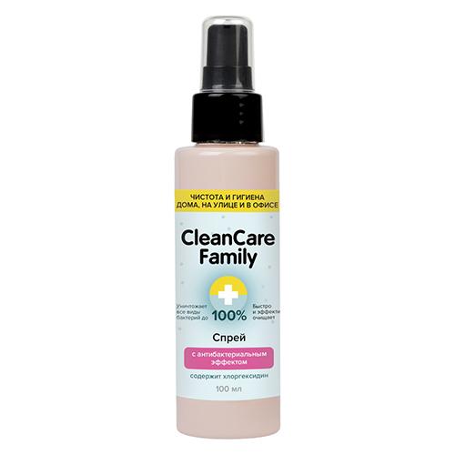 Cleancare Family Спрей с антибактериальным эффектом, 100 мл (Cleancare Family, Дезинфицирующие средства)