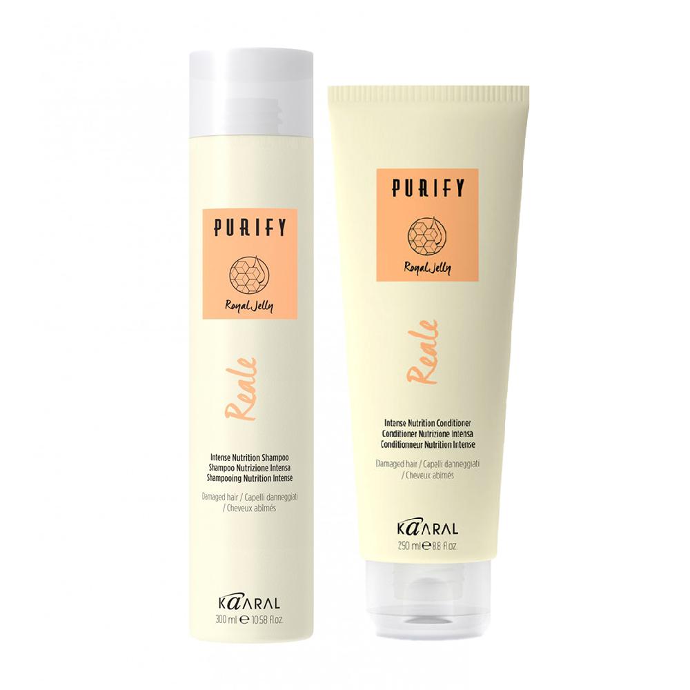 Kaaral Набор для восстановления поврежденных волос Purify, Reale (Шампунь, 300 мл + Кондиционер, 250 мл), 1 шт. (Kaaral, Purify) недорого