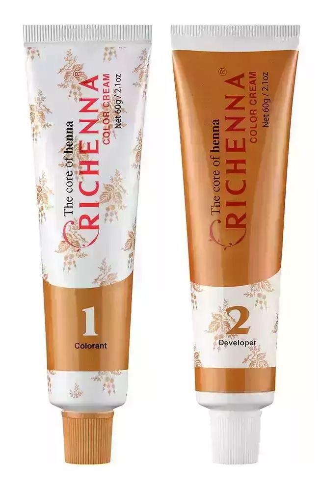 Richenna Крем-краска для волос с хной, 120 мл - 8OR Soft Orange (Richenna, Окрашивание)  - Купить