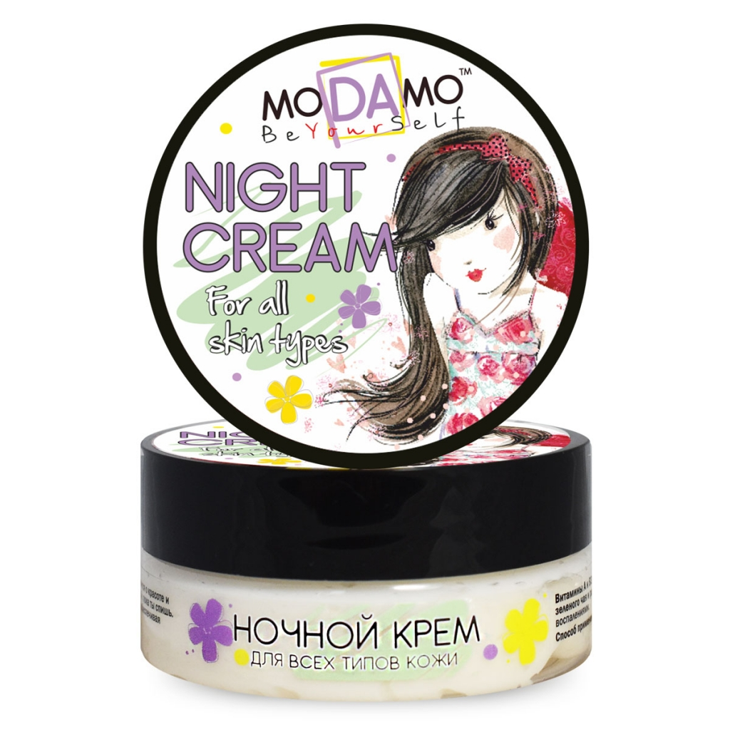 Купить Modamo Ночной крем для всех типов кожи, 50 мл (Modamo, Be yourself)