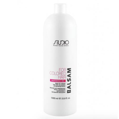 Купить Kapous Professional Бальзам для окрашенных волос с рисовыми протеинами и экстрактом женьшеня, 1000 мл (Kapous Professional, Kapous Studio)