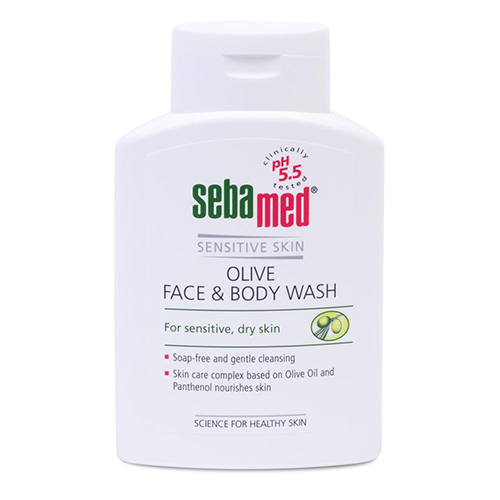 Купить Sebamed Гель для лица и тела очищающий оливковый Olive Face & Body Wash, 200 мл (Sebamed, Sensitive Skin)