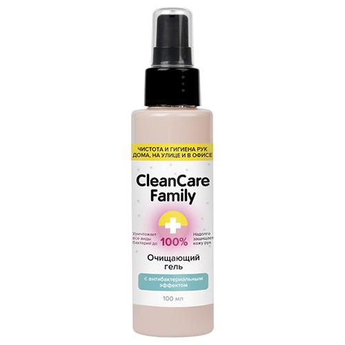 Cleancare Family Очищающий гель с антибактериальным эффектом, 100 мл (Cleancare Family, Дезинфицирующие средства)