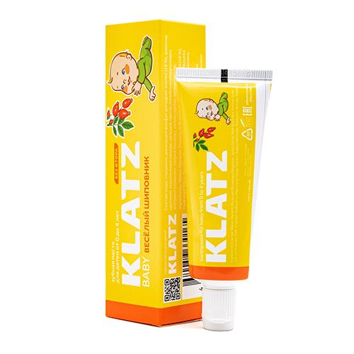 Купить Klatz Зубная паста для детей Веселый шиповник без фтора, 48 мл (Klatz, Baby)