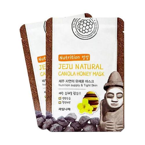 Welcos Маска для лица питательная Jeju Nature's Canola Honey Mask, 20 мл (Welcos, )  - Купить