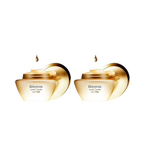 Kerastase Набор Elixir Ultime Преображающая волосы маска Beautifying Oil-Enriched Masque, 2*200 мл (Kerastase, Elixir Ultime) kerastase молочко elixir ultime