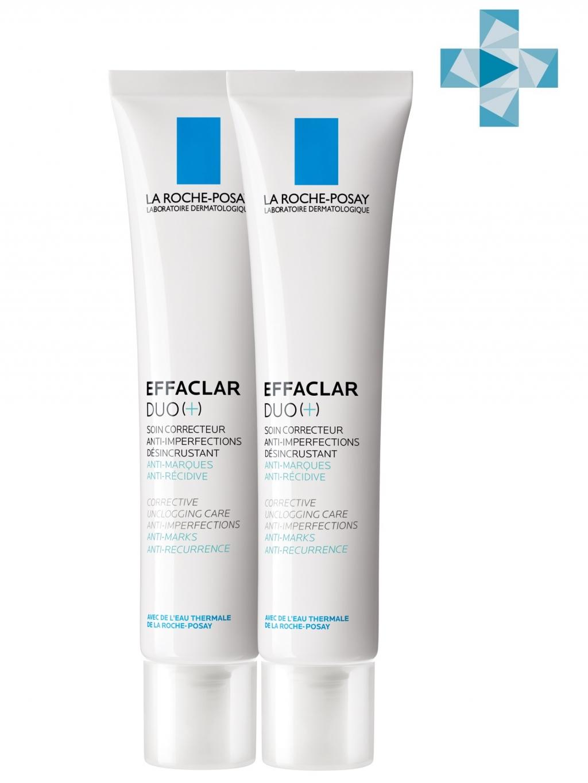 Купить La Roche-Posay Комплект Корректирующий крем-гель Эфаклар Дуо+ для проблемной кожи, 2*40 мл (La Roche-Posay, Effaclar)