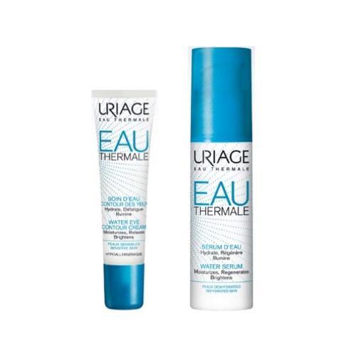 Купить Uriage Набор для увлажнения кожи (Увлажняющий крем для контура глаз, 15 мл + Увлажняющая сыворотка, 30 мл) (Uriage, Eau thermale)