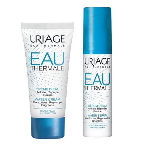 Купить Uriage Набор для увлажнения кожи Eau thermale (Легкий увлажняющий крем, 40 мл + Увлажняющая сыворотка, 30 мл) (Uriage, Eau thermale)