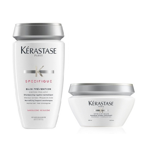 Kerastase Комплект Specifique (Шампунь-Ванна Prevention, 250 мл + Маска Hydra Apaisant, 200 мл) (Kerastase, Specifique) недорого