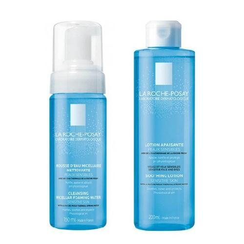 Купить La Roche-Posay Набор Physiological Cleansers (Мицеллярная очищающая пенка, 150 мл + Тоник успокаивающий увлажняющий, 200 мл) (La Roche-Posay, Physiological Cleansers)