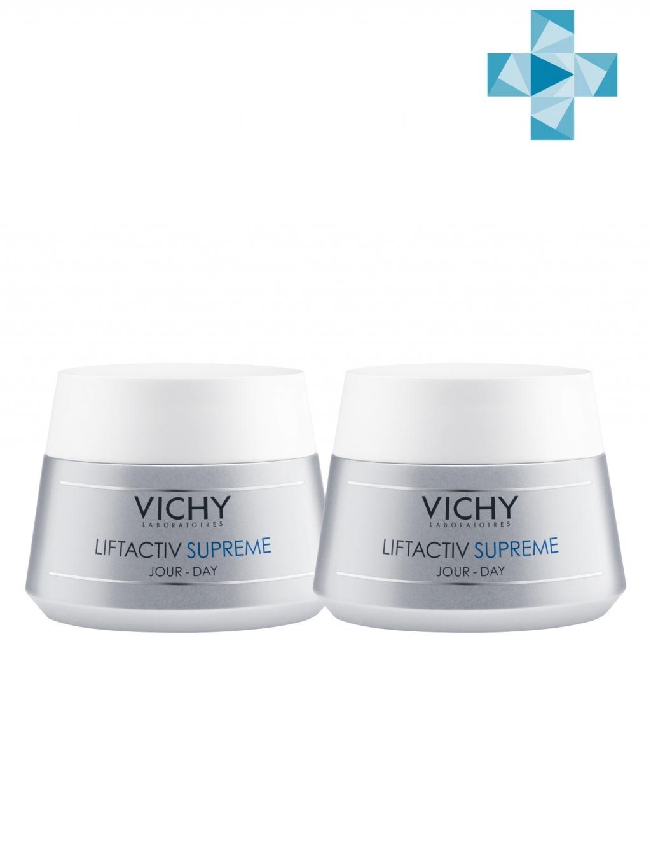 Купить Vichy Комплект ЛифтАктив Супрем Крем для упругости сухой и очень сухой кожи, 2х50 мл (Vichy, Liftactiv)