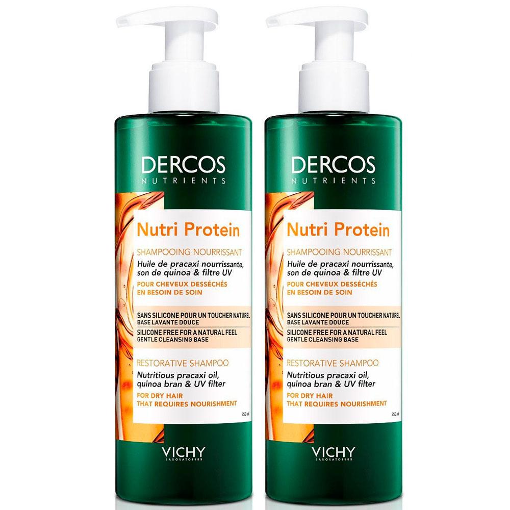 Купить Vichy Комплект Восстанавливающий шампунь Dercos Nutrients Nutri Protein, 2*250 мл (Vichy, Dercos Nutrients)