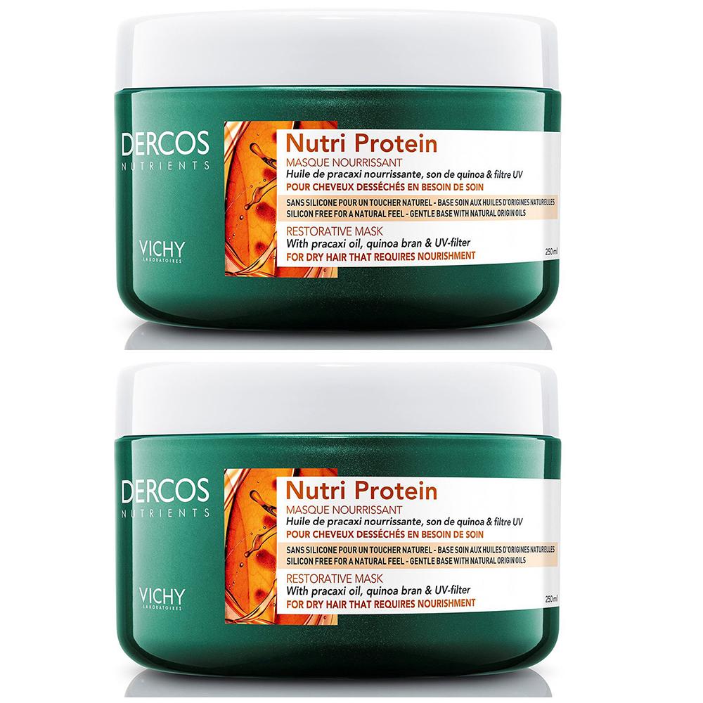 Купить Vichy Комплект Восстанавливающая маска Dercos Nutrients Nutri Protein, 2*250 мл (Vichy, Dercos Nutrients)