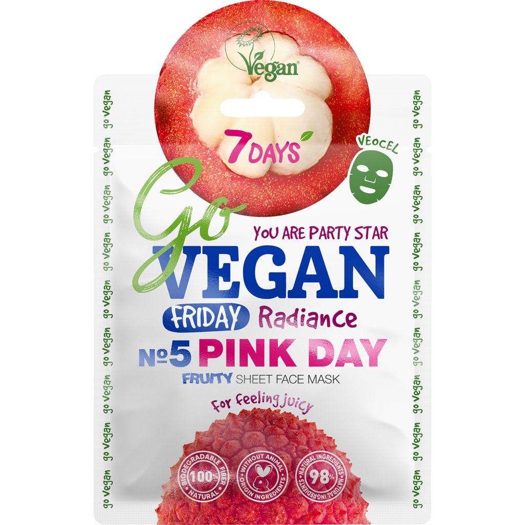 Купить 7 Days Тканевая fruity маска для лица Friday Pink Day, 25 г (7 Days, Go Vegan)